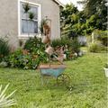 Alpine Corporation Rustic Wheelbarrow/Watering Can Outdoor Fountain