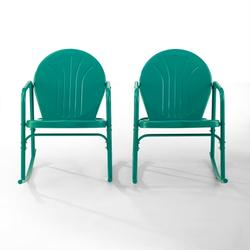 Crosley Furniture Griffith 2Pc Outdoor Rocking Chair Set- 2 Chairs