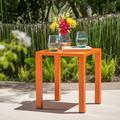 "Ainsley Outdoor Aluminum 16"" Side Table, Orange"