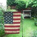 MYPOP USA Flag Garden Flag For Patio, Lawn and Garden 28x40 inches