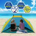Sunrise Outdoor Fishing Beach Tent, Camping, Hiking, Traveling, Light Blue with Yellow