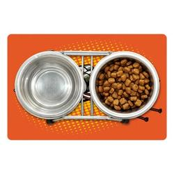 """Sushi Pet Mat for Food and Water, Japanese Dish Served on Plate with Wasabi Image Comic Book Style Halftone Backdrop, Non-Slip Rubber Mat for Dogs and Cats, 18"""" X 12"""", by Ambesonne"""