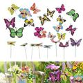 EEEkit 50pcs Butterfly Stakes and Dragonfly Stakes 11.75 inch Garden Ornaments Stakes, Waterproof Butterflies Garden Decorations for Indoor,Outdoor Yard, Patio Plant Flower Pot, Christmas Décor