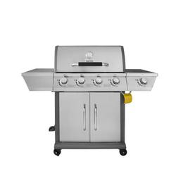 Royal Gourmet GG4302S 4-Burner Gas Grill with Side Burner, Stainless Steel