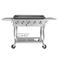 Royal Gourmet GB5000S Regal 5-Burner 65,000-BTU Propane Gas Grill Griddle, 36''L, Outdoor Cooking, Tailgating