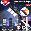 60W 90W Super Bright Solar Street Light, Waterproof IP67 Wall Garden Lights, All In One Area Lighting Dusk to Dawn Light Control , Radar Induction Courtyard Deck Night Light