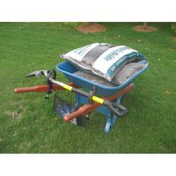 Grizzly Grip Wheelbarrow Tool Holder with Mesh Bag, Secures Tools To Wheelbarrow