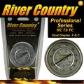 """3"""" River Country Dual Display Range Adjustable BBQ, Smoker, Thermometer, (50 to 550 F & 10 to 285 C)"""