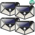 1/2/4 Pack 100LEDs 270° Wide Angle Solar Powered Motion Sensor LED Light Recharged Wireless SUPER BRIGHT Solar Lights Waterproof Outdoor Wall Light Security Lights for Garden Driveway Patio Yard