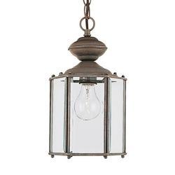 Sea Gull Lighting 6008-26 1-Light Outdoor Pendant Clear Bevel Glass Sienna