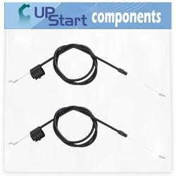 2-Pack 582991501 Engine Zone Control Cable Replacement for Husqvarna ROTARY LAWN MOWER (96114000317) (2007-11) Lawn Mower: Consumer Walk Behind - Compatible with 158152 Cable