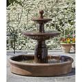 Campania International Esplanade Two Tier Cast Stone Outdoor Fountain