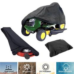 IClover Lawn Mower Cover,Waterproof Heavy Duty Durable UV Resistant Push Lawn Mower Covers with Drawstring Storage Bag for Universal Yard Machine Hand Weeder Small Size