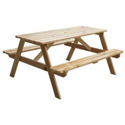 A-Frame Outdoor Wooden Patio Deck Garden Picnic Table, Natural