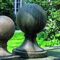 Campania International Large Round Sphere Cast Stone Garden Statue Base