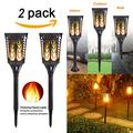 (Set of 2 ) Solar Lights Solar Torches Lights Waterproof Dancing Flame Outdoor Lighting Landscape Decoration Lighting 96 LED Solar Powered Path Lights Dusk to Dawn Auto On/Off for Garden Patio Yard