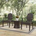 Casper Outdoor Patio Dining Armchair Set with Side Table in Brown