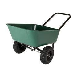 Garden Star Dual-Wheel, Poly Tray Garden Barrow Wheelbarrow