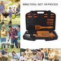 18PCS Barbecue Tool Set Cooking Grill Grilling Tool Suit BBQ Utensils Set Garden Patio Picnic Party Cooking