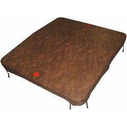 Canadian Spa Co. Rectangular Spa Cover with 5in x 3in Taper , 89in x 79in x 2in Radius, Brown