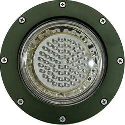 Dabmar Lighting LV306-LED4-G-SLV Cast Aluminum LED In-Ground Well Light with PVC Sleeve, Green - 6.50 x 7.75 x 7.75 in.