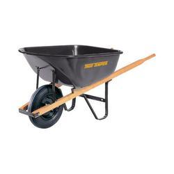 True Temper S6U25 Steel Wheelbarrow 6 cu. ft.