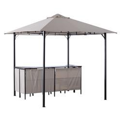 Outsunny 8' x 8' 3 Piece Outdoor Furniture Covered Gazebo Patio Bar Set