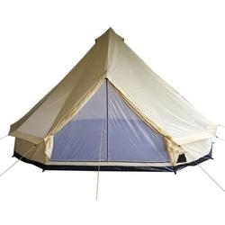 Outsunny 16' Large Portable 10 Man Hunting Fishing Camping Bell Tent Beige
