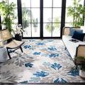 Safavieh Cabana Georgiana Grey/Blue 9'X12' Indoor/Outdoor Area Rug