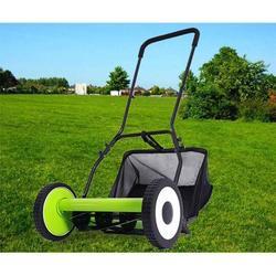 "INTSUPERMAI 16"" Hand Push Mower Lawn Zero Electric Courtyard Home Push Reel Walk-Behind Mower Manual Lawnmower Lawn Trimmer"