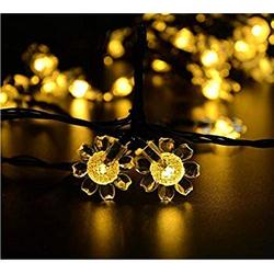 Solar Sunflower Lights, Waterproof 21ft 50LED Sunflowers Solar Fairy String Lights for Indoor/Outdoor Christmas Wedding Party Garden Holiday Landscape Lighting Decoration (1-Warm White)