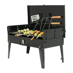 """18"""" Foldable BBQ Grill,BBQ Charcoal Grill,Portable Barbecue Camping Picnic Grill Stove Outdoor,Barbecue Portable Folding Grill Barbecue Kits for Cooking Camping Hiking Picnic Garden Terrace Travel"""