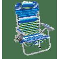 RIO Beach 4-Position Lace-Up Backpack Beach Chair - Stripe