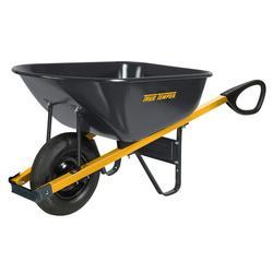 True Temper R6TC14 6 Cubic Foot Total Control Steel Wheelbarrow