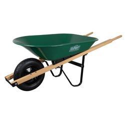 Expert Gardener Steel Wheelbarrow, 4 Cu. Ft.