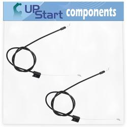2-Pack 532176556 Engine Cable Replacement for Husqvarna ROTARY LAWN MOWER (96134000600) (2007-11) Lawn Mower: Consumer Walk Behind - Compatible with 176556 162778 Zone Control Cable