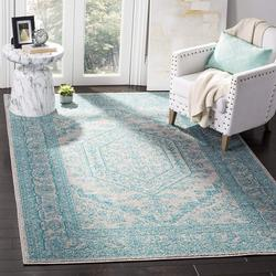 ADR108L-3 Adirondack Collection Area Rug, 3' x 5', Light Grey/Teal, Safavieh's chic and versatile Adirondack rug with 1,500+ customer reviews By Safavieh