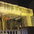 AGPtEK 3Mx3M 300LED String Light Curtain Light for Christmas Xmas Wedding Party Home Decoration - Warm White