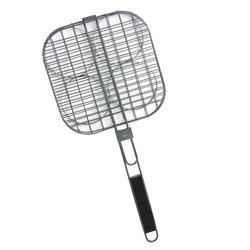 22 Inch Nonstick Surface Ham Burger Patty Wire Grilling Basket with Locking Grill Handle for Outdoor/ Indoor BBQ-Grill up to 4 Patties at Once Use on Charcoal Gas Grills Campfires Restaurant Style