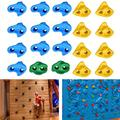 Keenso Rock Climbing Stones Set, 20Pcs Plastic Multi-Colour Textured Wall Rock Climbing Holds with Mounting Screws Indoor Outdoor Kids Climbing Grips for Your DIY Rock Stone Wall
