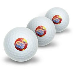 Percussionist Band Orchestra Instrument Music Percussion Snare Drums Novelty Golf Balls, 3pk