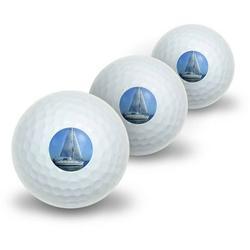 Sail Sailing Boat Novelty Golf Balls, 3pk