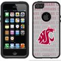 Washington State Cougars Repeating Design on OtterBox Commuter Series Case for Apple iPhone 5/5s