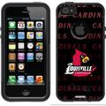 University of Louisville Repeating Design on OtterBox Commuter Series Case for Apple iPhone 5/5s