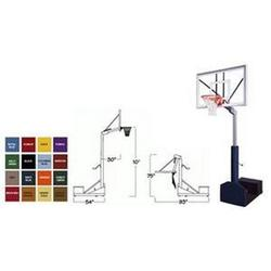 First Team Rampage Nitro Portable Basketball Hoop with 60 Inch Glass Backboard Color: Black