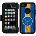St. Louis Blues Jersey Stripe Design on OtterBox Defender Series Case for Apple iPhone 5/5s