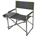 Ozark Trail Oversized Director Chair with Side Table for Outdoor, Green Fabric