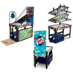 """MD Sports 48"""" 12 in 1 Combo Game Table, Air Hockey, Basketball, Boxing, Target Shooting, Bean Bag Toss, Bowling and More"""