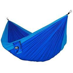 Neolite Double Camping Hammock Lightweight Portable Nylon Parachute Hammock Blue