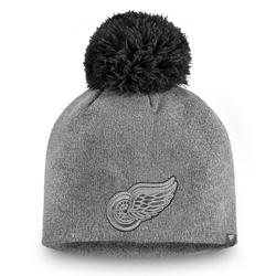 Detroit Red Wings Fanatics Branded Women's Versalux Marled Tech Knit Beanie with Pom - Gray - OSFA